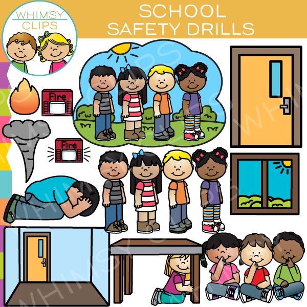 School Safety Drill Clip Art