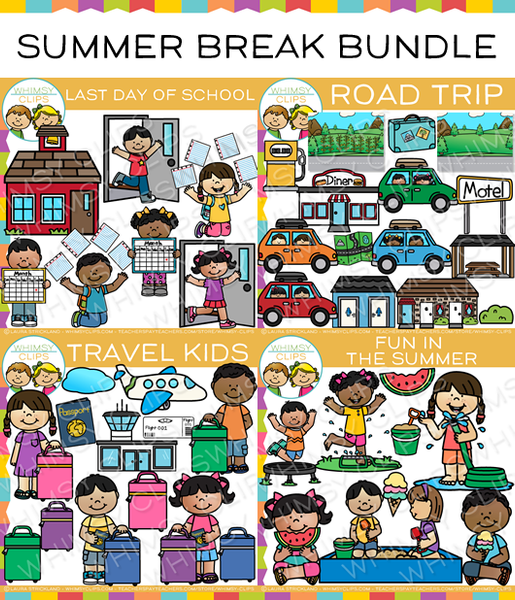 Summer Break Clip Art Bundle