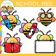 Free School Bee Clip Art