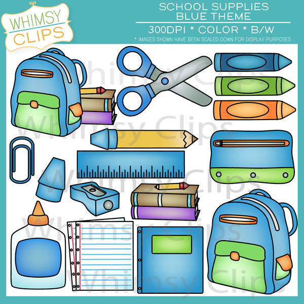 School Supplies - Blue Pack
