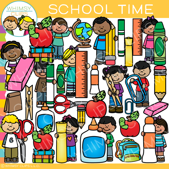 School Time Clip Art