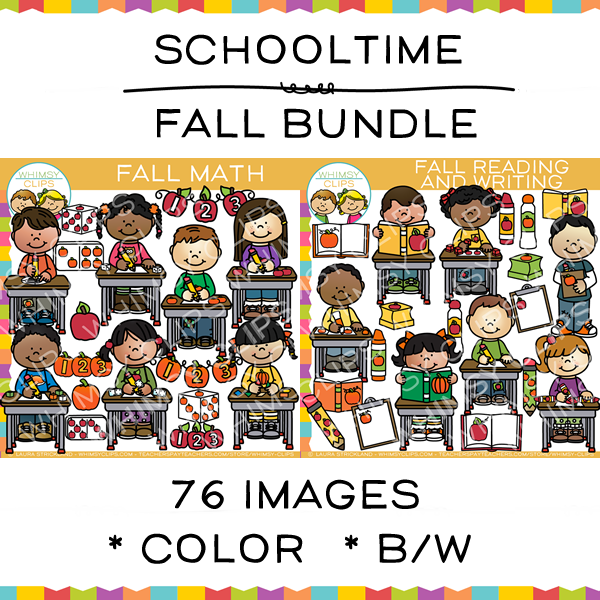 Schooltime Fall Clip Art Bundle