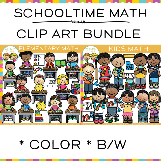 Schooltime Math Clip Art Bundle