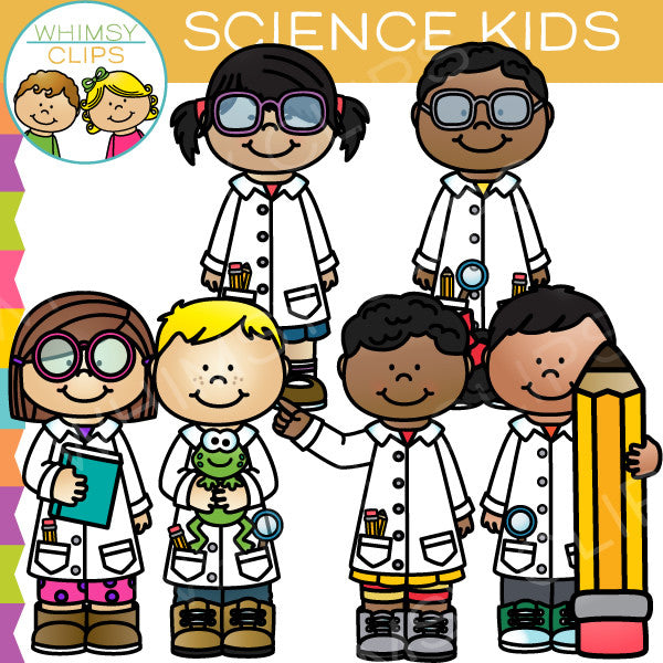 Science Kids Clip Art