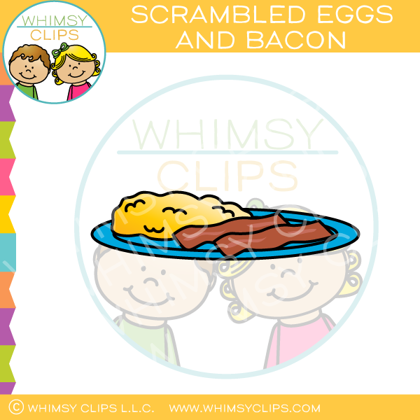 Scrambled Eggs And Bacon Clip Art