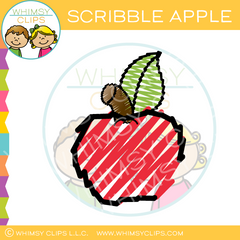 Scribble Apple Clip Art
