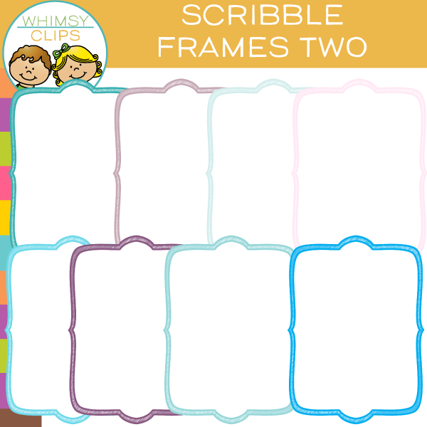 Free Scribble Frames Clip Art - Two