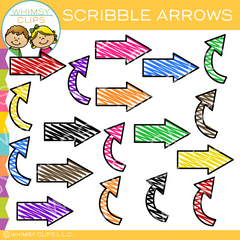 Free Scribble Arrows Clip Art