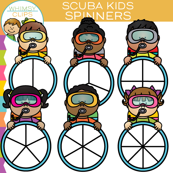 Scuba Kids Spinners Clip Art