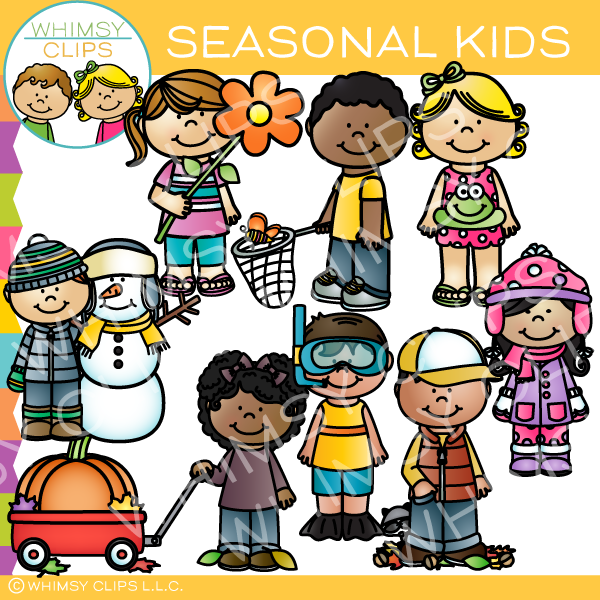 Seasonal Kids Clip Art