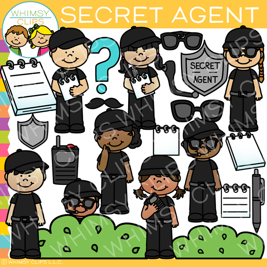 Secret Agent Kids Clip Art