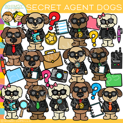 Secret Agent Dog Clip Art