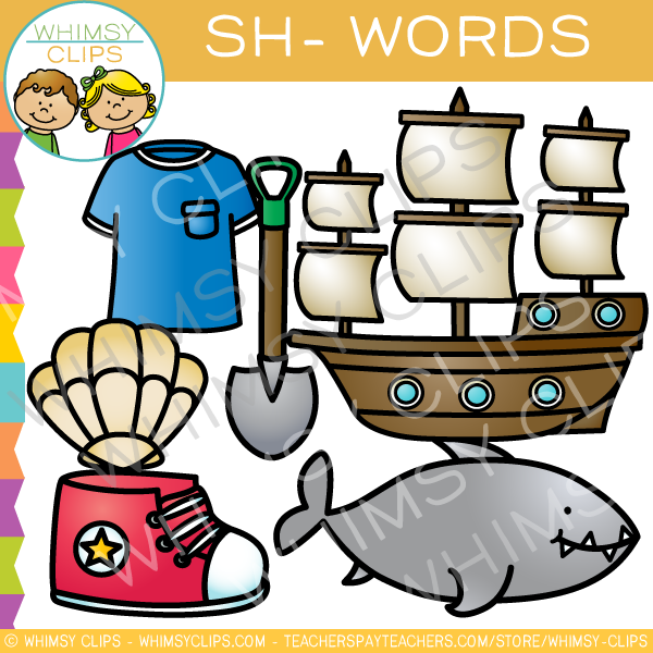 Beginning Sh- Words Clip Art - Volume One