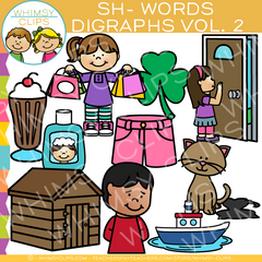 Sh Words Digraph Clip Art