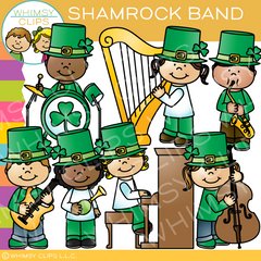 Shamrock Band Clip Art