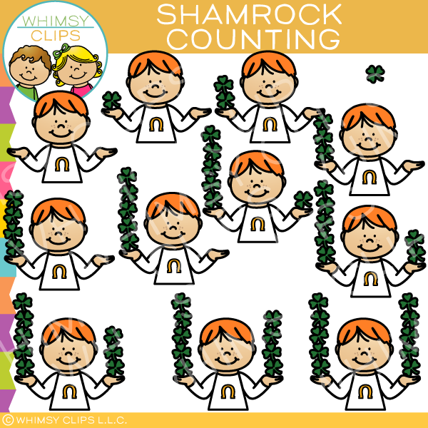 Shamrock Counting Clip Art