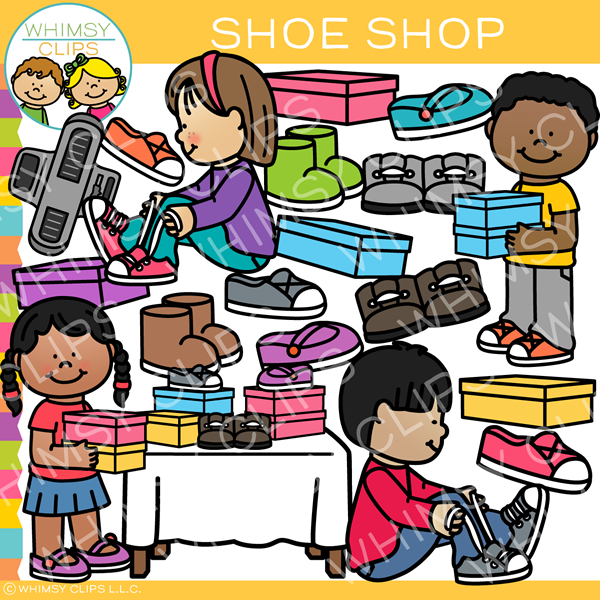Kids Shoe Shop Clip Art