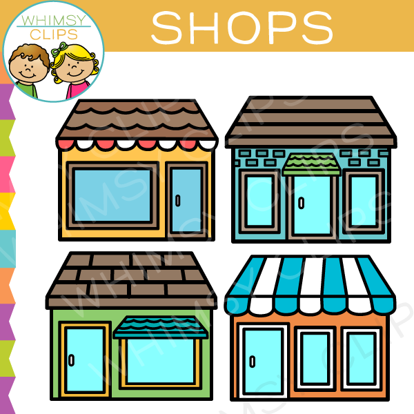 Store Clip Art , Images & Illustrations | Whimsy Clips