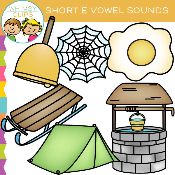 Short E Vowel Sounds Clip Art