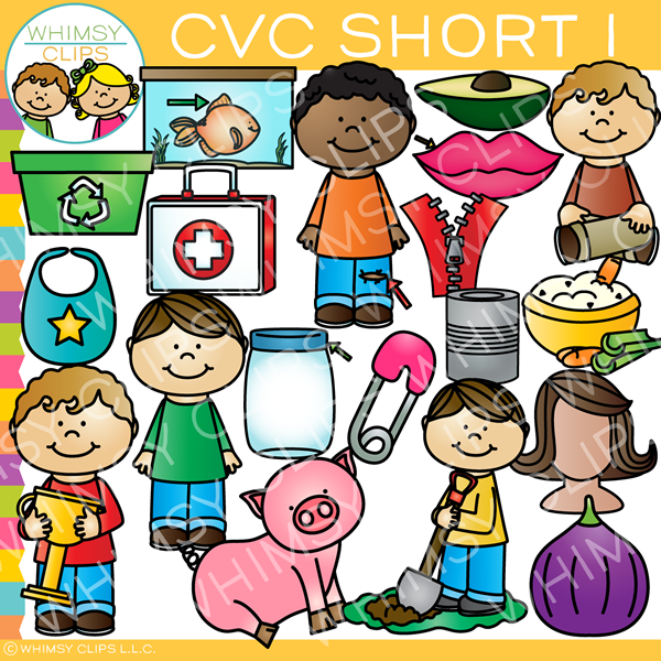 CVC Short I Word Family Clip Art {Volume One}