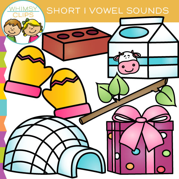 Short I Vowel Sounds Clip Art