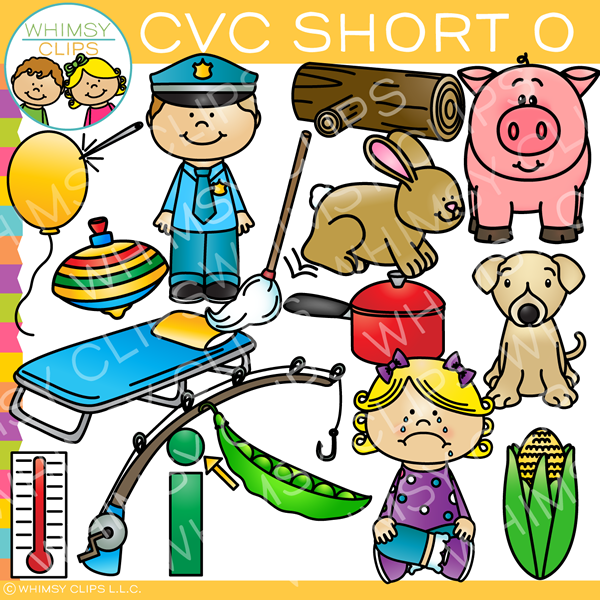CVC Short O Word Family Clip Art {Volume One}