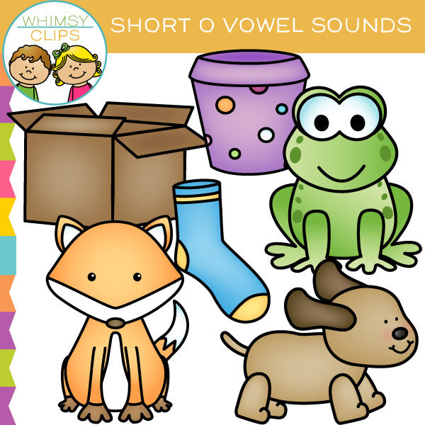 Short O Vowel Sounds Clip Art