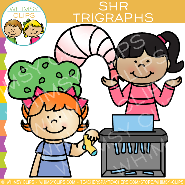 Beginning Trigraphs  Clip Art - SHR Words