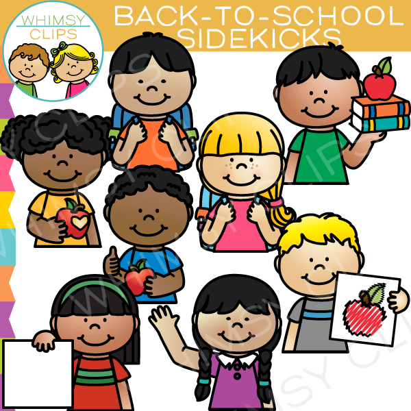 Sidekicks Back to School Clip Art