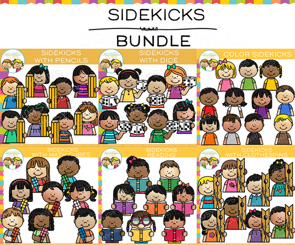 Kid Sidekicks Clip Art Bundle