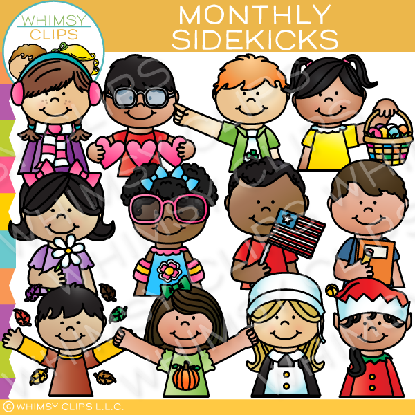 Monthly Sidekicks Clip Art