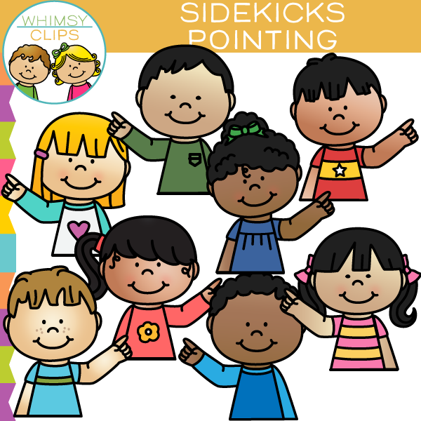 Sidekicks Pointing Clip Art
