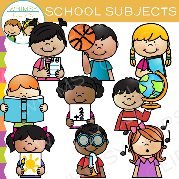 School Subject Sidekicks Clip Art