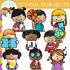 School Subjects Clip Art