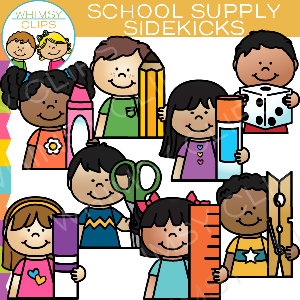 Sidekicks School Supply Clip Art