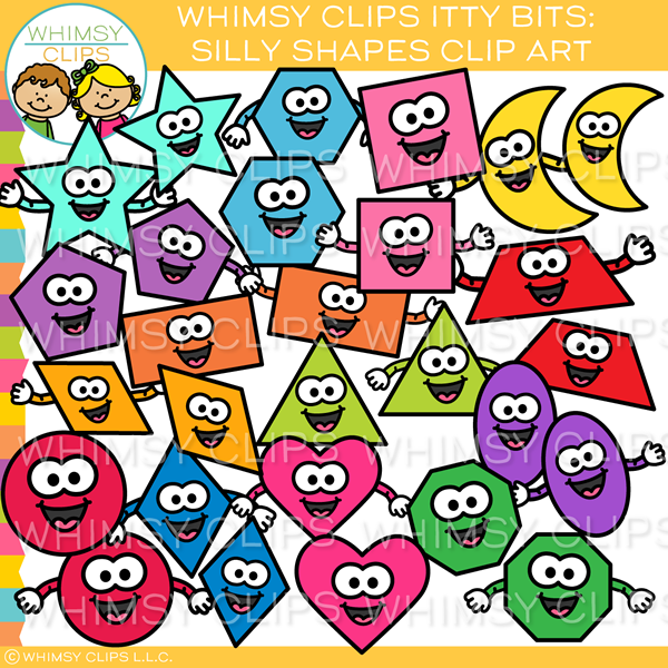 Colorful Silly Shapes Clip Art