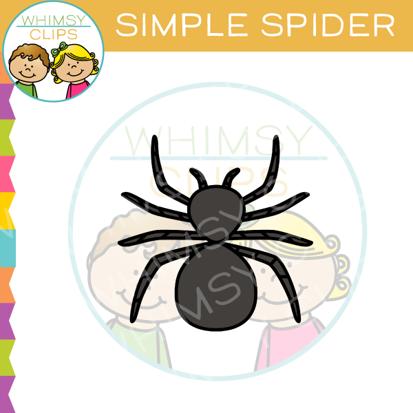 Simple Spider Clip Art