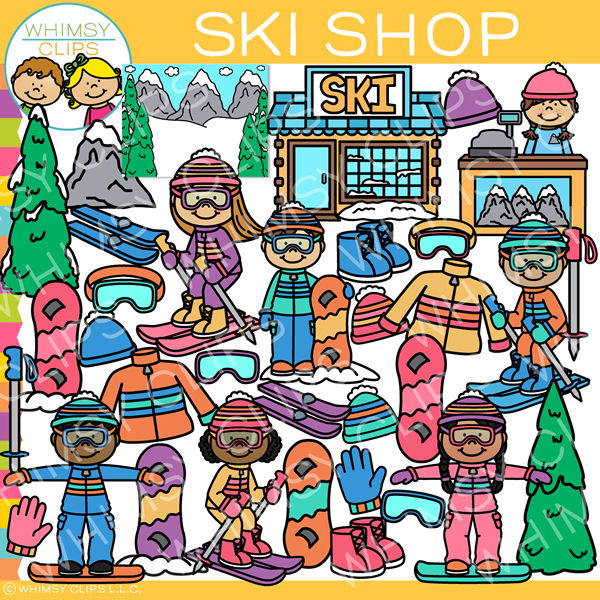 Winter Ski Shop Clip Art