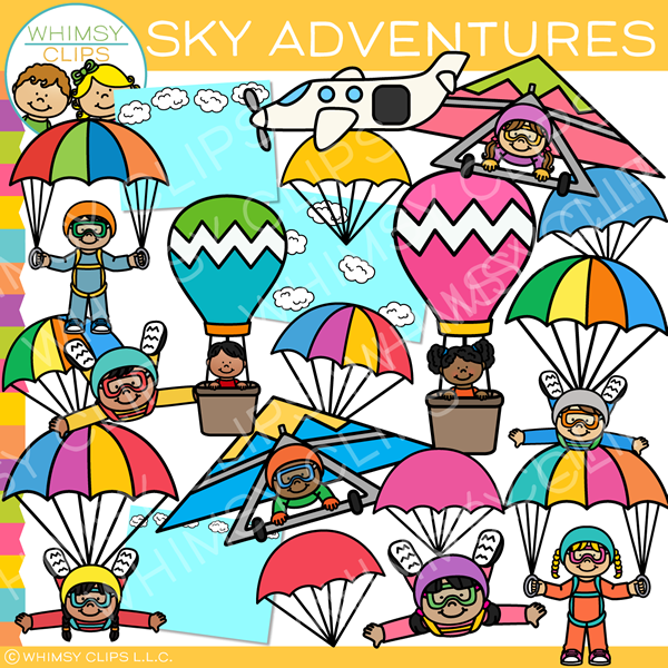 Kids Sky Adventures Clip Art
