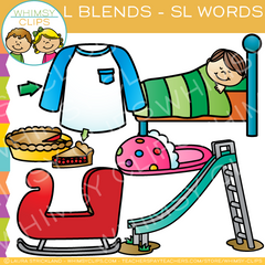 L Blends Clip Art - SL Words