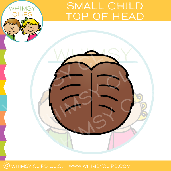 Small Child Top of Head Clip Art
