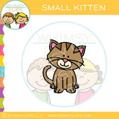 Small Cute Kitten Clip Art