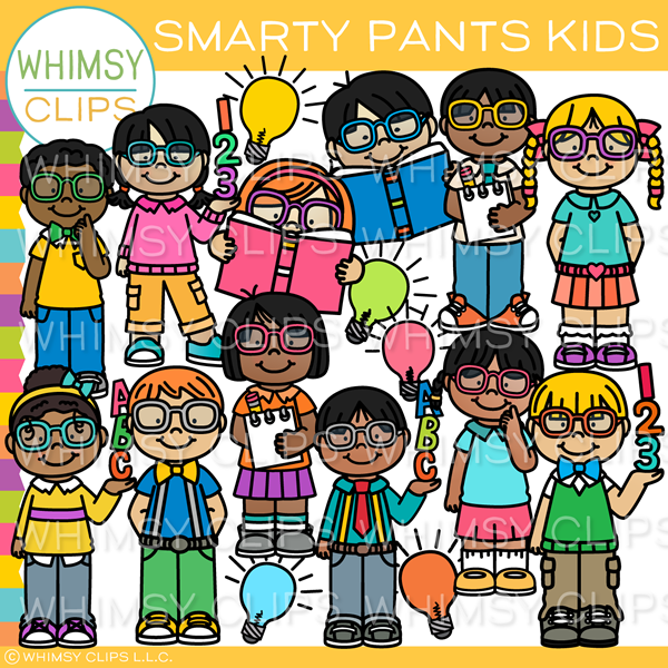 Kids Wearing Glasses Clip Art