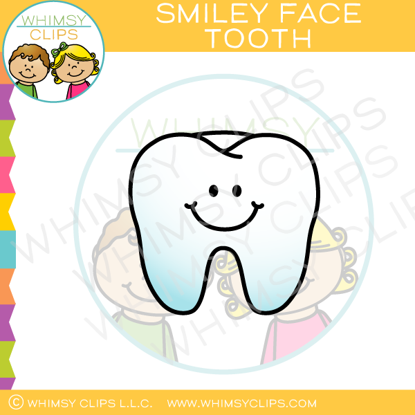 Smiley Face Tooth Clip Art