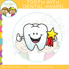 Tooth With Dental Award Clip Art