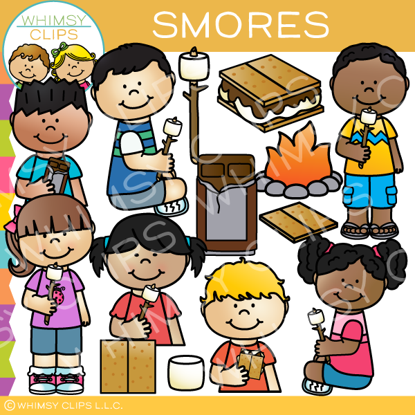 S'mores Clip Art , Images & Illustrations | Whimsy Clips