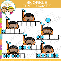 Snorkle Five Frames Clip Art