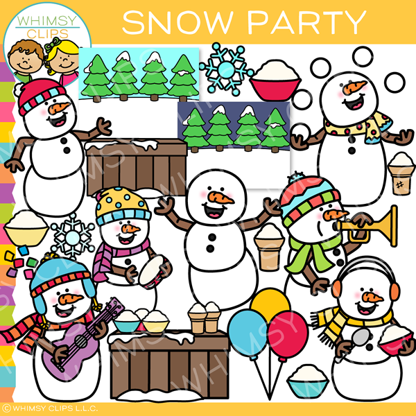 Snow Party Clip Art