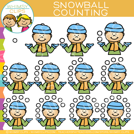 Snowball Counting Clip Art
