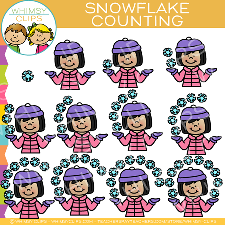 Snowflake Counting Clip Art